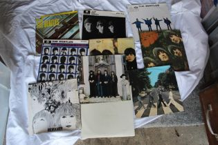 A 10 album Beatles lot - 1980's pressings including a Greek issue