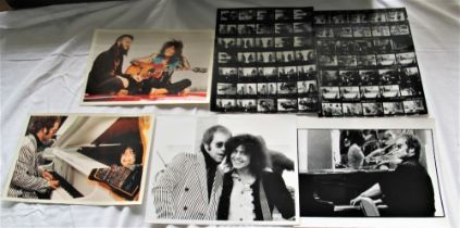 A job lot of six photos with contact sheets relating to ' Born to Boogie ' movie / Elton / Bolan /