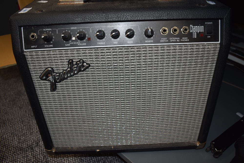 A vintage guitar or instrument amplifier by Fender Champion 110