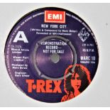 A demo copy of 'new york city ' by T-Rex - in a strong vg+ condition