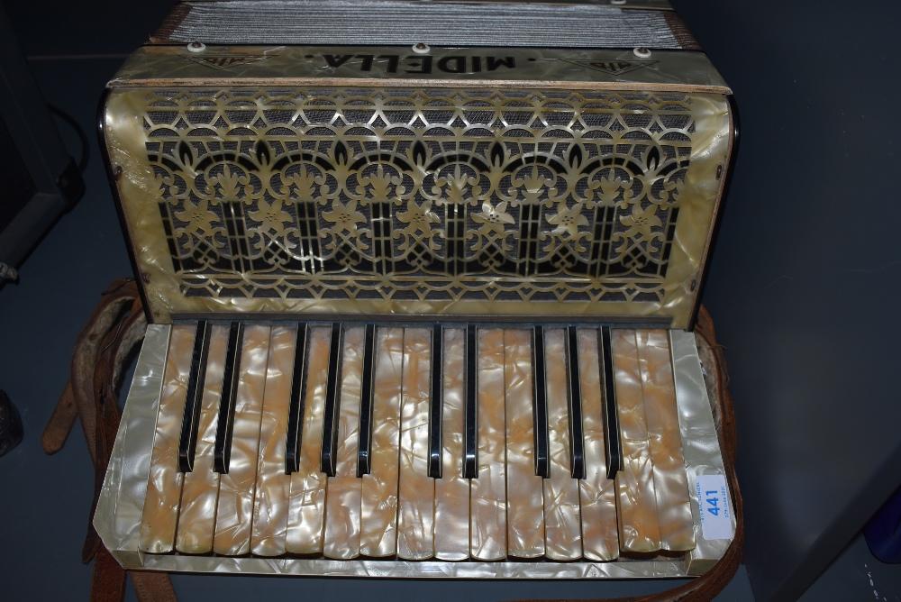 A vintage German piano accordian