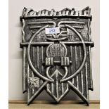 A heavy plaster Hawkwind logo wall plaque