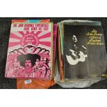 A selection of sheet music books, assorted interest