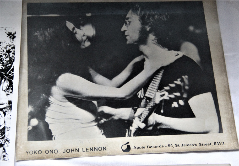 A lot of six photos - John and Yoko and one solo Yoko - 25cm by 20cm - Image 2 of 4