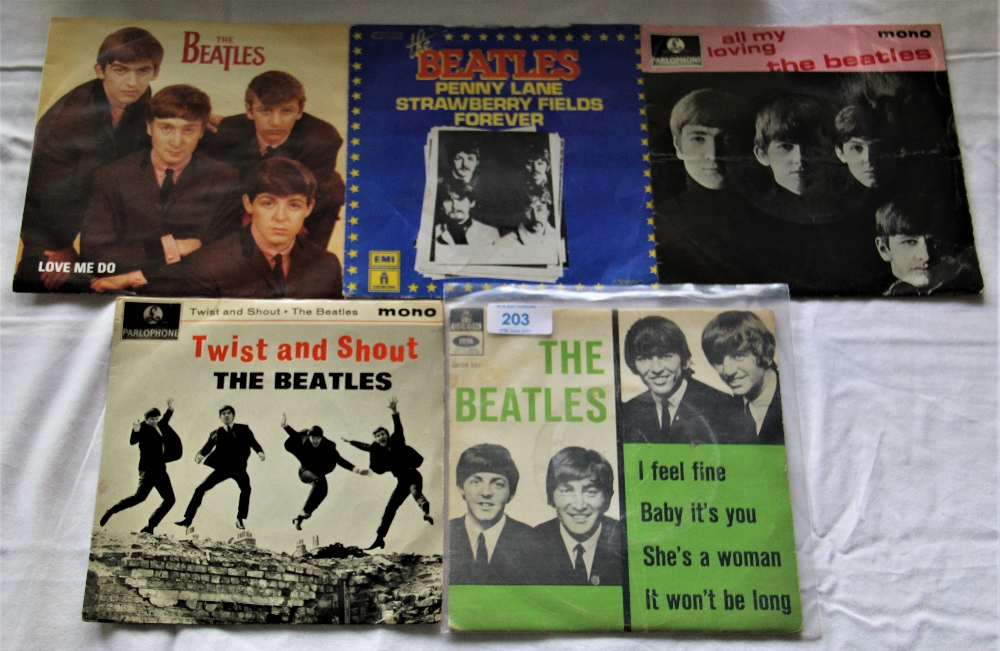 A lot of Five Beatles Ep's / Picture Sleeves