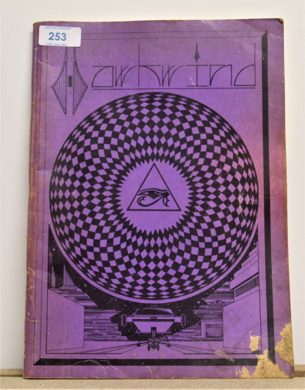A signed Hawkwind / illustrated lyric book - some wear but regardless a really nice piece