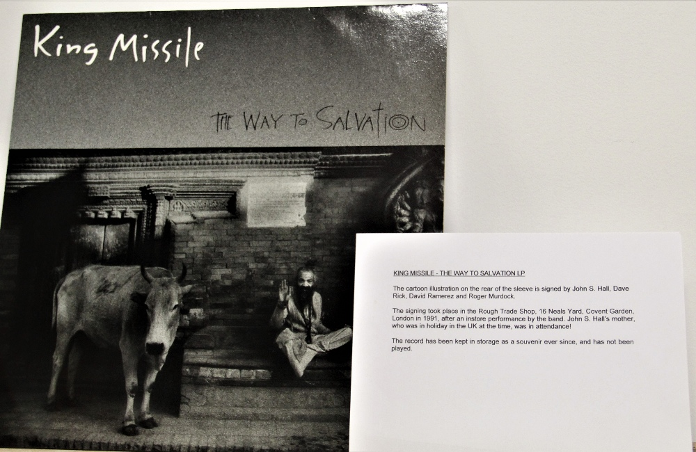 A signed album by underground band King Missle