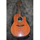 An Ovation electo acoustic guitar, Celebrity series Model CK047