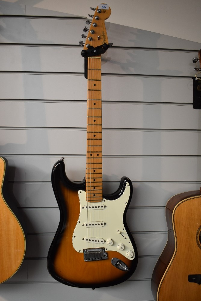 A US Fender Stratocaster, Z0154226, Corona Plant, California circa 2000, with moulded plastic