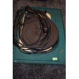 A vintage Garrard record deck, in cloth bound case