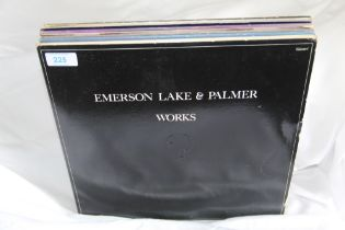 An eight album lot of Emerson , Lake and Palmer albums - Progressive Rock interest