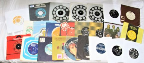 A lot of 24 seven inch singles - a real mixed bag with a few of these being on the Ring 'O Records