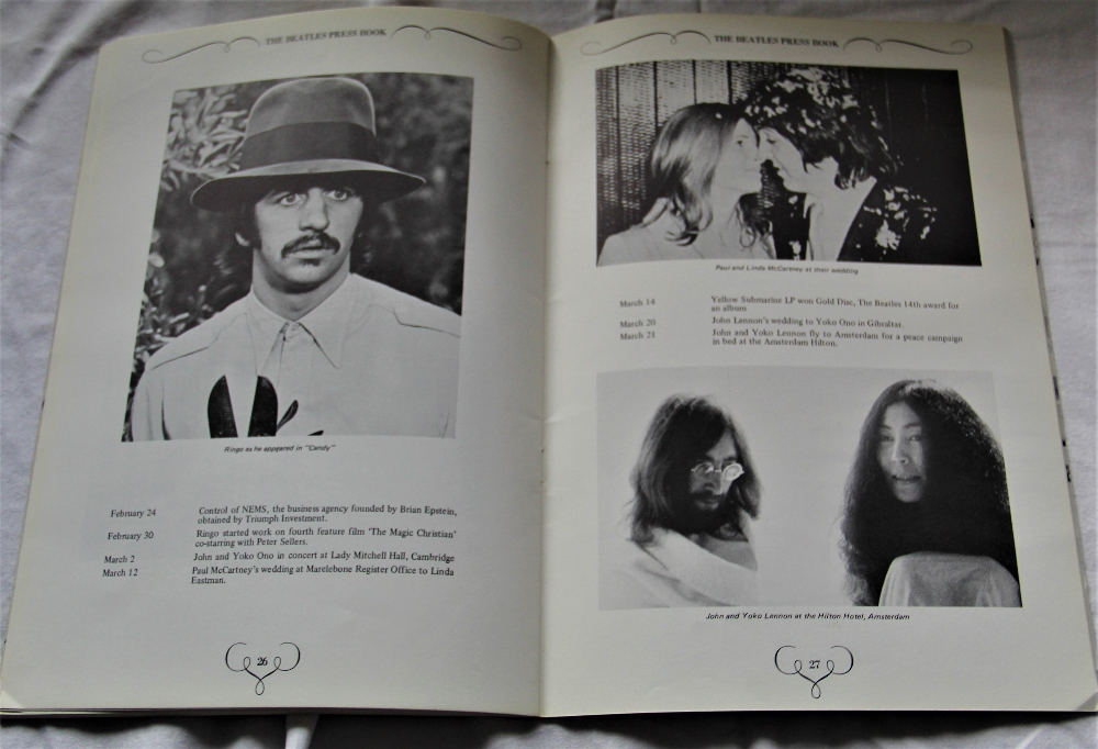 A copy of the hard to find official Apple Records Beatles press book ' the Apple office present ' - Image 4 of 5