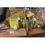 A Quantity of catmaster tackle including polyball live bait rigs and tape measures.