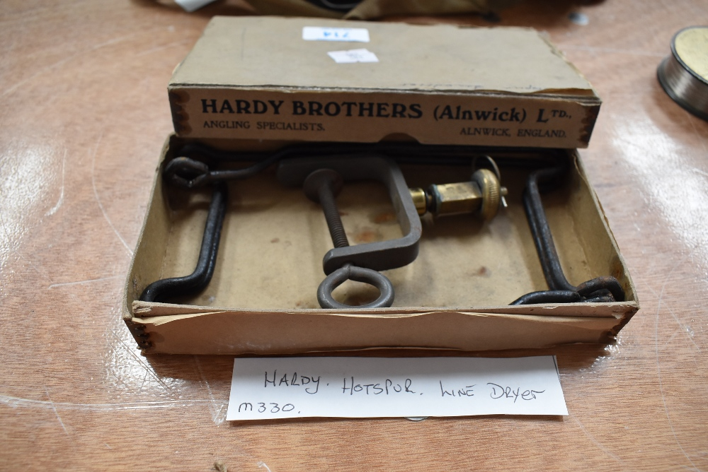 A Hardy Hotspur line dryer in original box.
