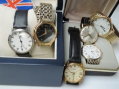 A selection of gent's wrist watches including Royal, Sekonda, Rotary etc