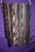 A collection of vintage ties,various colours and styles.predominantly 1950s.