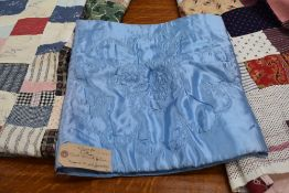 Two antique patch work quilts,both unfinished projects and are not padded or backed,brilliant bright