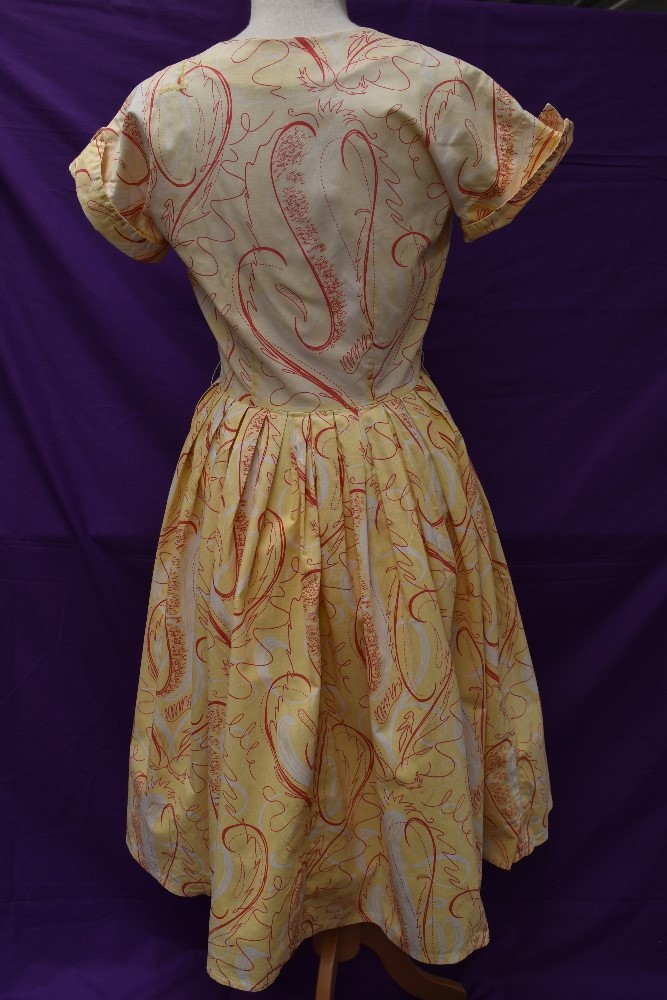 Two scarce and collectable late 1940s Horrockses cotton sun dresses in yellow, both having CC41 - Image 11 of 15