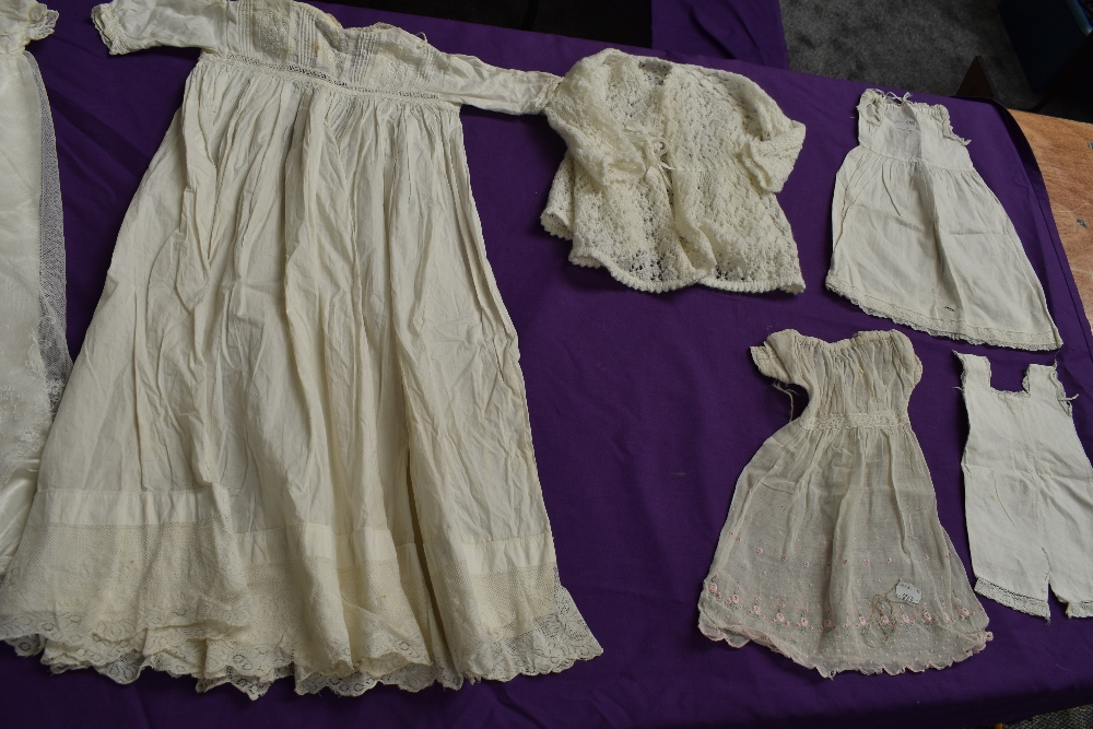 A selection of antique baby clothing including gowns and undergarments,cardigan and more, some - Image 3 of 7