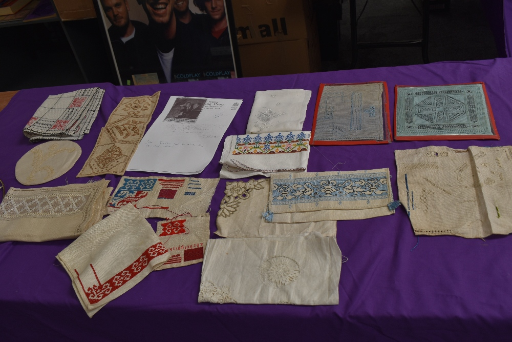 A collection of needlework, stitched by Miss Annie Wood of Carlton rd, Helmsley a British