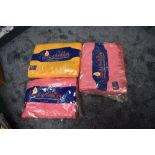 Three unused vintage 'Pride of the valley' Yorkshire blankets, still in packaging,two pink and one