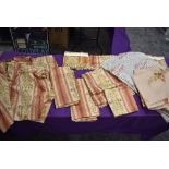 A good quantity of vintage curtains, fabric and cushion covers, around late 50s to 60s.