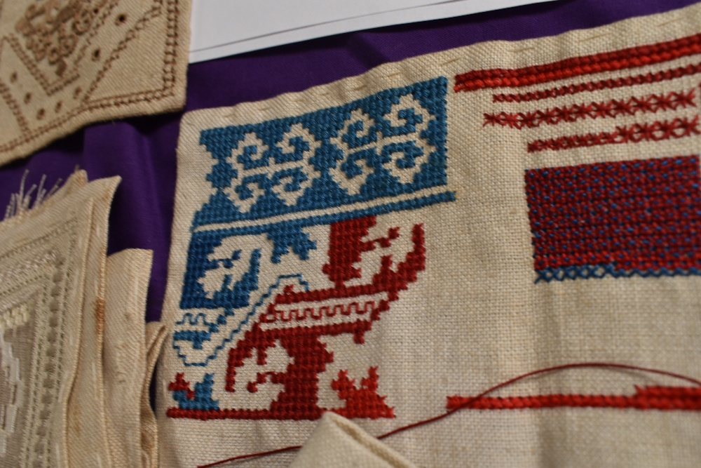 A collection of needlework, stitched by Miss Annie Wood of Carlton rd, Helmsley a British - Image 5 of 8