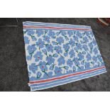 A vintage Mary Quant scarf or shawl having abstract floral design in blue, green and red to white g