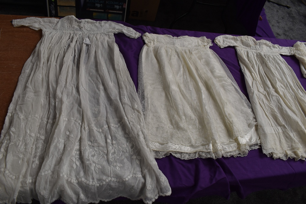 A selection of antique baby clothing including gowns and undergarments,cardigan and more, some - Image 2 of 7
