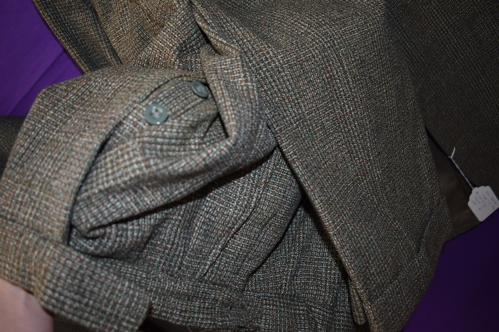 A gents 1950s Irish tweed suit in green and brown tones,button fly to trousers and three pockets - Image 4 of 4