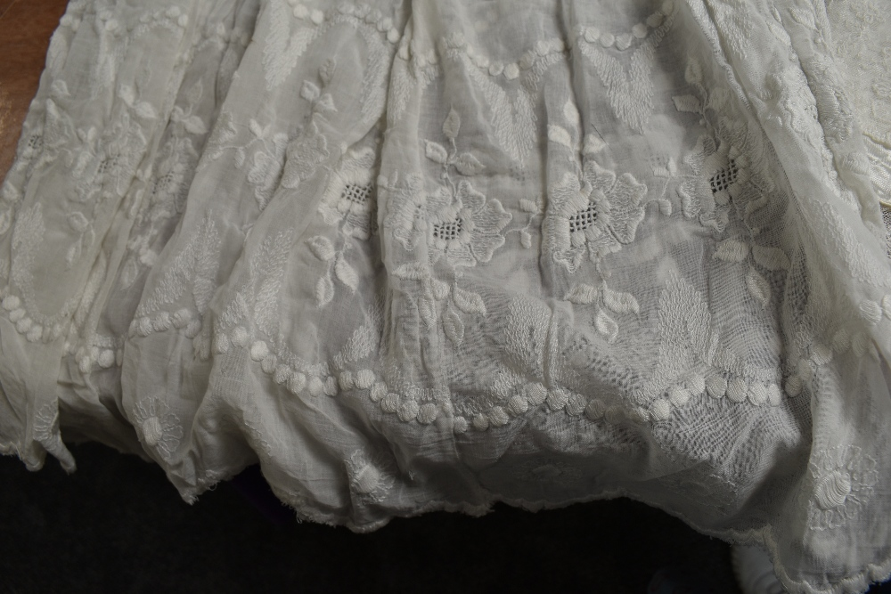 A selection of antique baby clothing including gowns and undergarments,cardigan and more, some - Image 5 of 7