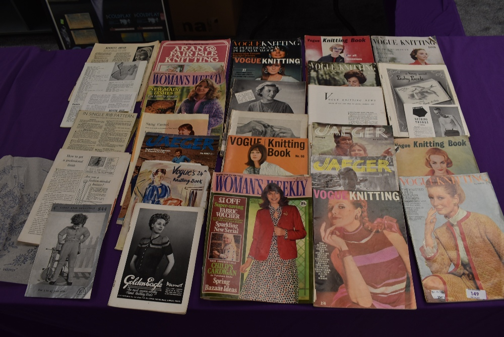 A collection of vintage knitting magazines.