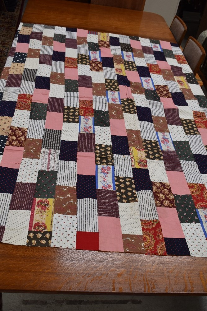 Two antique patch work quilts,both unfinished projects and are not padded or backed,brilliant bright - Image 5 of 9