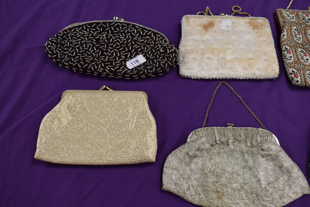 A collection of vintage evening bags beaded and embroidered examples amongst this lot - Image 3 of 3