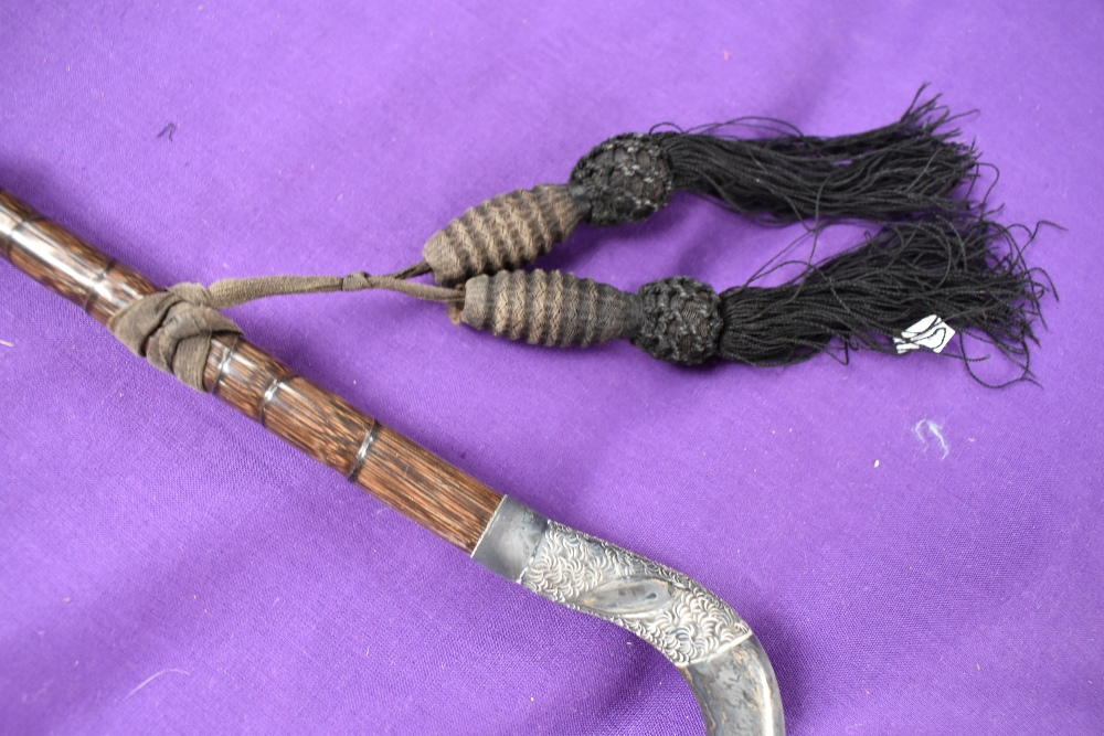A collection of antique umbrellas, one bearing hallmark to handle. - Image 6 of 6