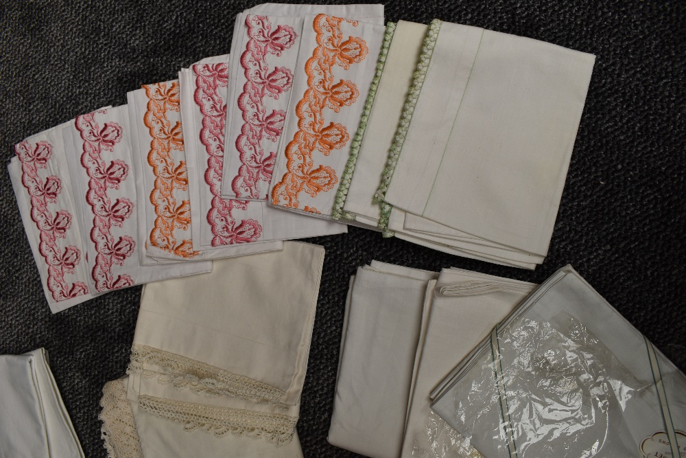 A large collection of vintage and retro bed linen, the majority unused in packaging and the vast - Image 3 of 7