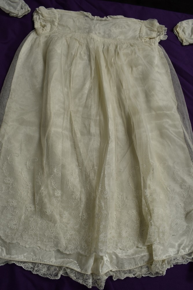 A selection of antique baby clothing including gowns and undergarments,cardigan and more, some - Image 6 of 7