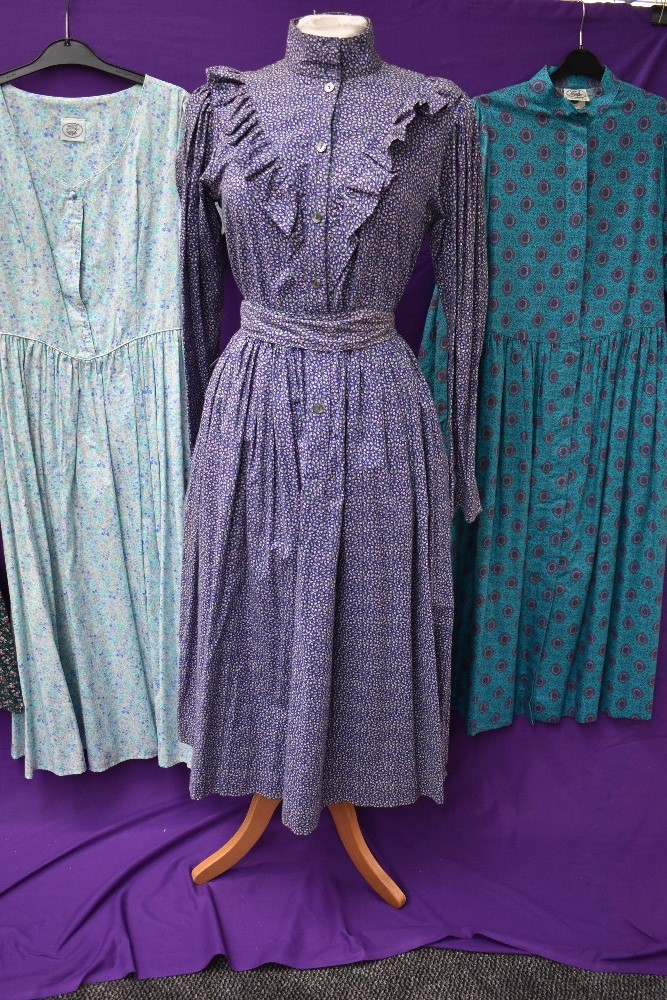 A collection of vintage and retro Laura Ashley dresses in a mixture of colours and styles. - Image 2 of 4