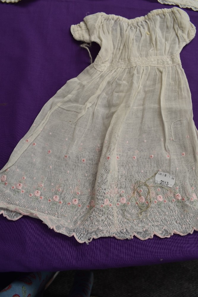 A selection of antique baby clothing including gowns and undergarments,cardigan and more, some - Image 4 of 7