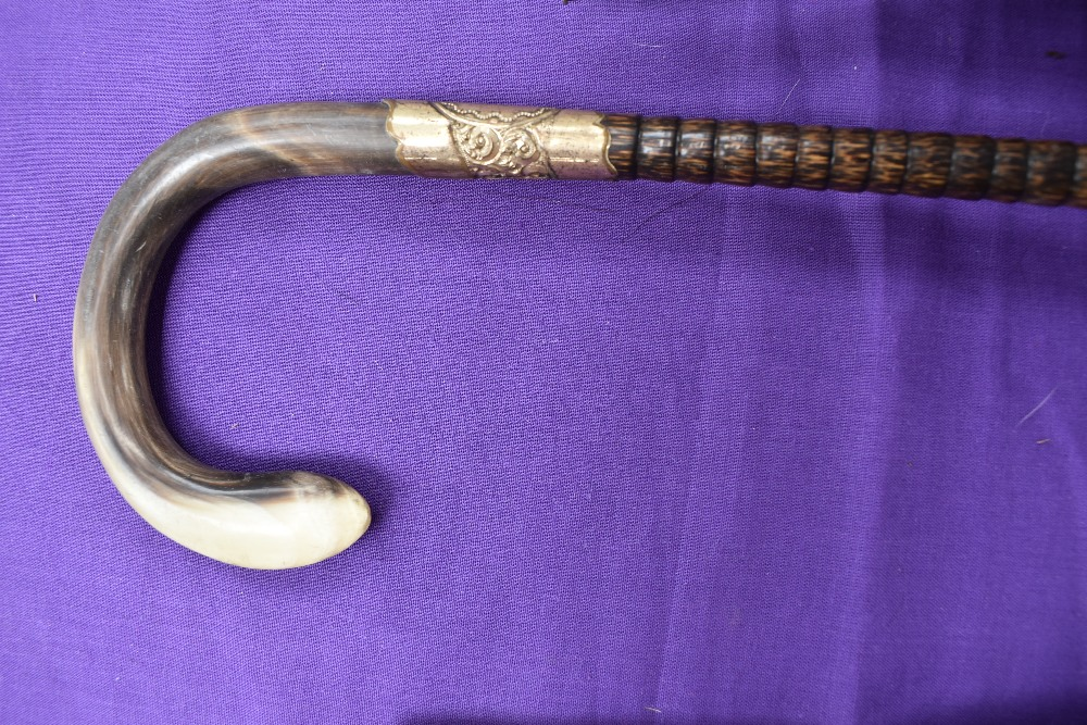 A collection of antique umbrellas, one bearing hallmark to handle. - Image 3 of 6
