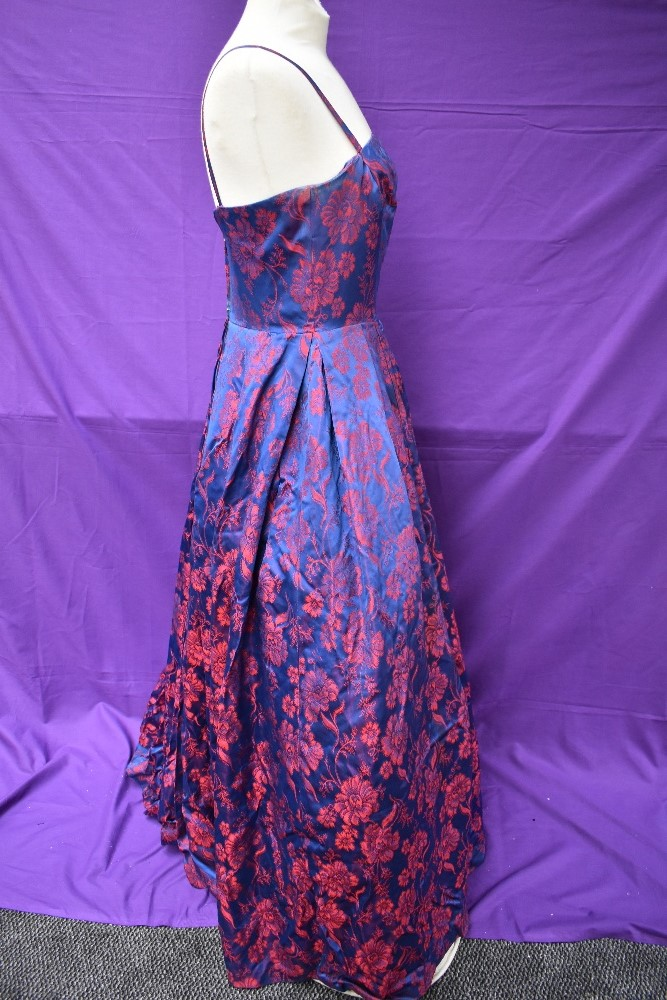 A 1950s Victor Josselyn gown in iridescent purple and red with hooped underskirt with box and - Image 4 of 4