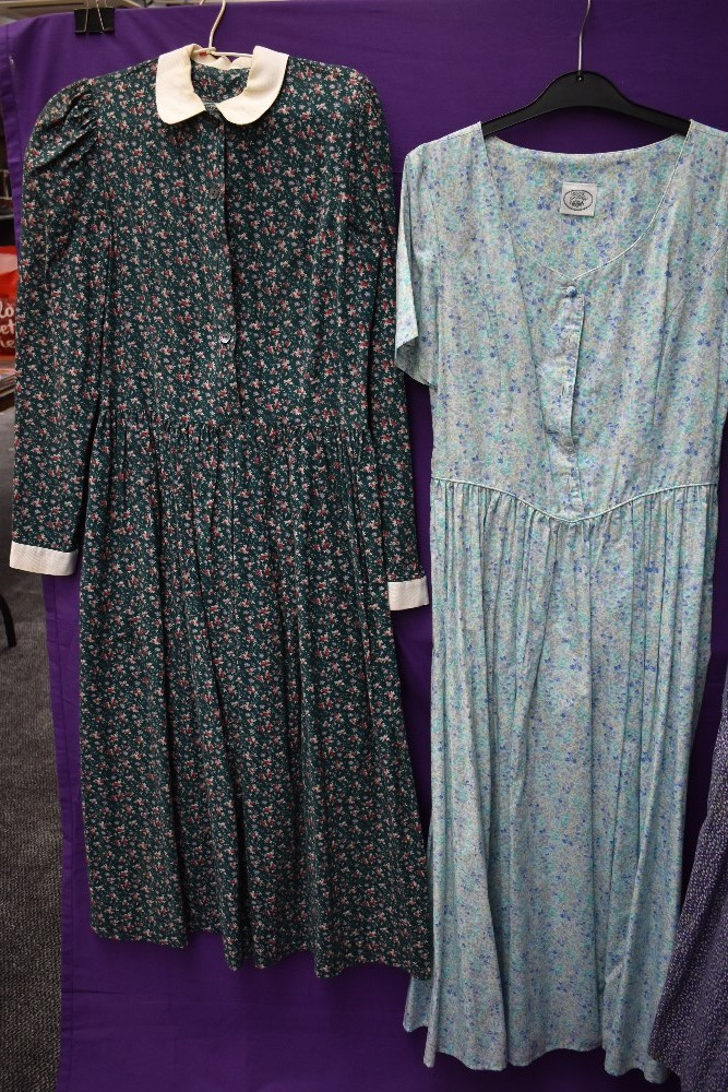 A collection of vintage and retro Laura Ashley dresses in a mixture of colours and styles. - Image 3 of 4