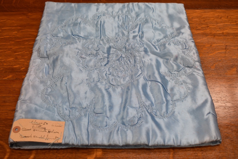 Two antique patch work quilts,both unfinished projects and are not padded or backed,brilliant bright - Image 8 of 9