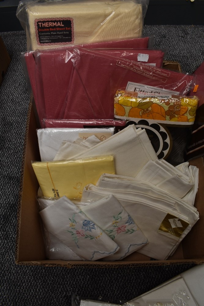 A large collection of vintage and retro bed linen, the majority unused in packaging and the vast - Image 2 of 7