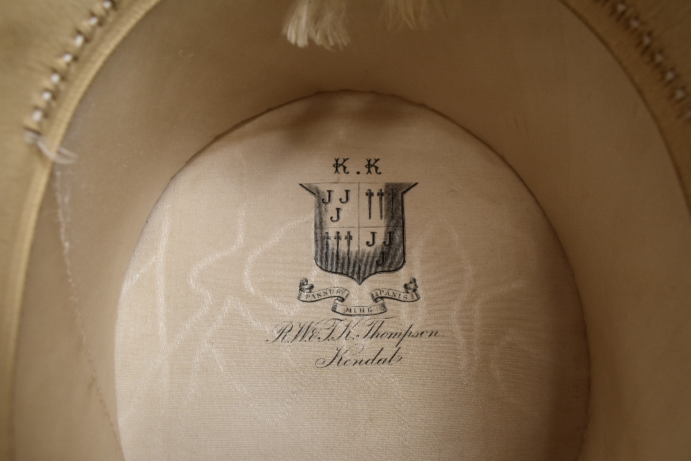 An antique top hat 'R.W.T.K Thompson Kendal' internal measurement approx 21' height approx 5.5',some - Image 4 of 4