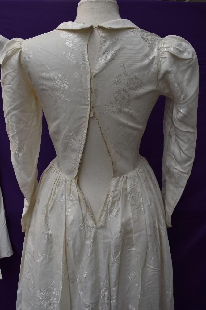 A Victorian baby gown having pin tuck and broderie anglais detail, a 1920s/30s wax flower head dress - Image 4 of 4