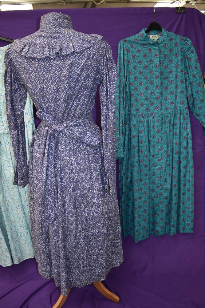 A collection of vintage and retro Laura Ashley dresses in a mixture of colours and styles. - Image 4 of 4