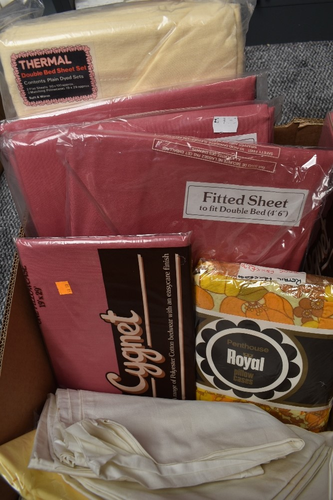 A large collection of vintage and retro bed linen, the majority unused in packaging and the vast - Image 6 of 7
