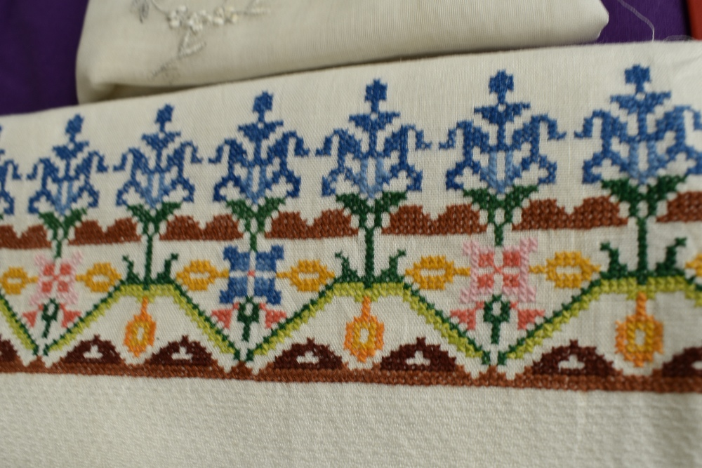 A collection of needlework, stitched by Miss Annie Wood of Carlton rd, Helmsley a British - Image 7 of 8